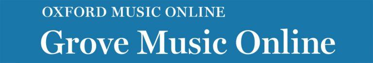 [descrição da imagem] Botão do site do Grove Music Online [fim da descrição da imagem]